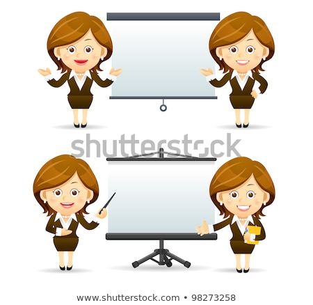 Foto stock: Set Of Funny Cartoon Manager
