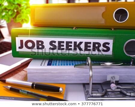 green office folder with inscription job seekers stock photo © tashatuvango