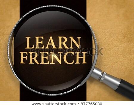 Learn French through Lens on Old Paper. Stock photo © tashatuvango