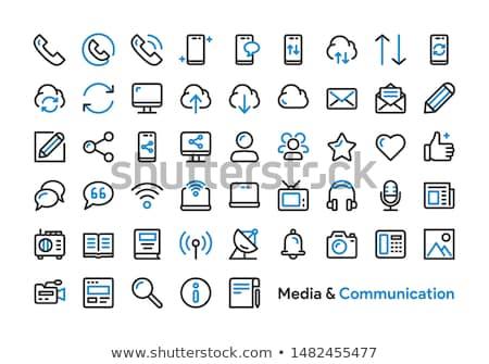 Frissít üzenet ikon gyűjtemény ikon okostelefon clip art Stock fotó © ahasoft
