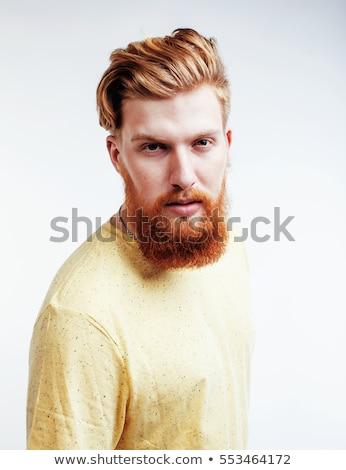 Jóvenes guapo jengibre barbado tipo Foto stock © iordani