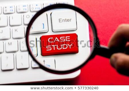 affaires · cas · modernes · clavier · d'ordinateur · portable · 3d · man · doigt - photo stock © tashatuvango