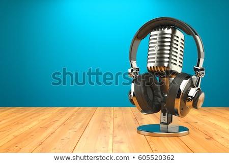 Moderne radio uitrusting stand elektrische audio Stockfoto © frimufilms