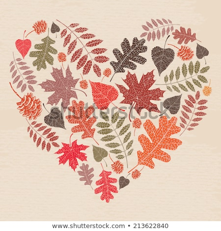 венок · дуб · листьев · декоративный · вектора · осень - Сток-фото © marysan