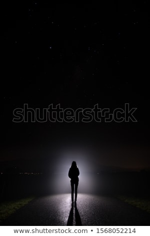 Ghostly figure in the dark  Stock photo © sqback