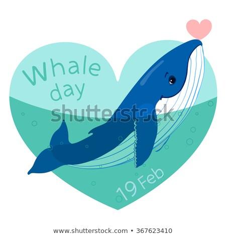 Dünya balina gün tebrik kartı tatil ikon Stok fotoğraf © Olena
