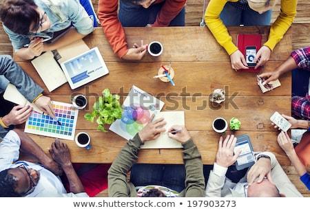 Grafica ufficio squadra donna bambino Foto d'archivio © wavebreak_media