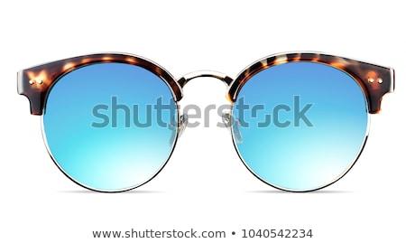 Солнцезащитные · очки · изолированный · белый · глаза · кадр · зеленый - Сток-фото © nenovbrothers