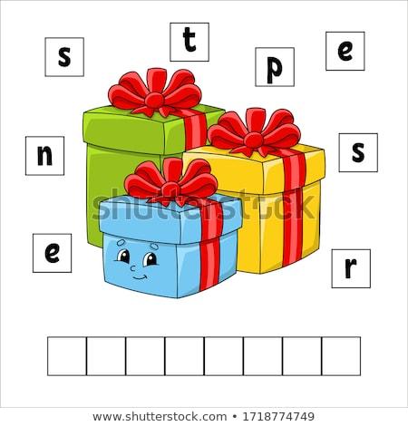 indovinare · parola · presenti · gioco · bambini · compito - foto d'archivio © Olena