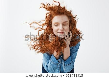 Tenero ragazza attrattivo rosa capelli Foto d'archivio © LightFieldStudios