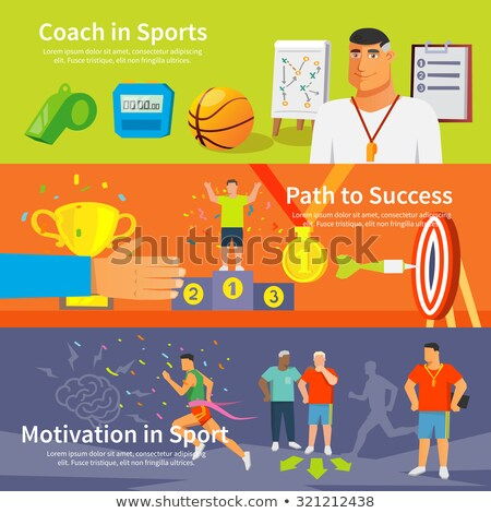 Adesivo conjunto seguir campo esportes ilustração Foto stock © bluering