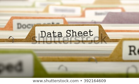 folder register with data sheet 3d stock photo © tashatuvango