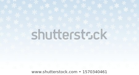 Seamless vector white snowfall effect on blue transparent horizontal background. Overlay snow flake  Stock photo © Iaroslava