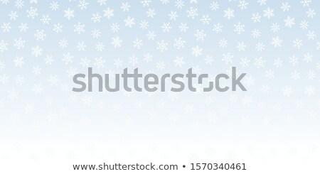 Vecteur blanche chutes de neige effet bleu Photo stock © Iaroslava