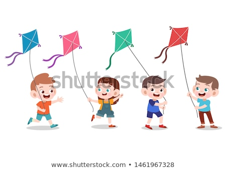 Boy flying a Kite Stock photo © IS2