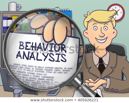Behavior Analysis through Magnifying Glass. Doodle Concept. Stock photo © tashatuvango