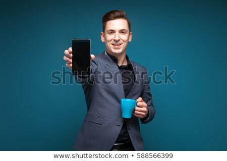 スーパー · 幸せ · 小さな · ビジネスマン · グレー - ストックフォト © traimak