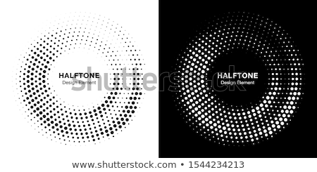 abstract circular halftone frame background stock photo © SArts