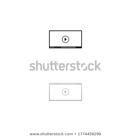 Black glossy interface button for volume control with reflect and shadow. Vector illustration Stock photo © Iaroslava