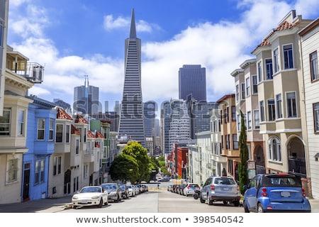 Widoku Hill sąsiedztwo San Francisco wieża molo Zdjęcia stock © davidgn
