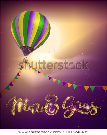 balloon and decoration garland flag for mardi gras carnival fat tuesday stock photo © orensila