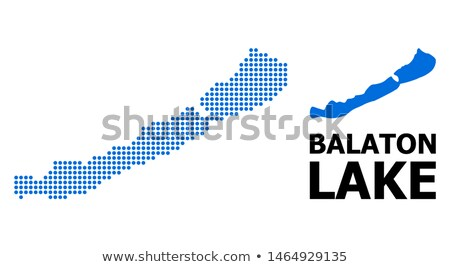 Carte lac Balaton fond bleu Photo stock © rbiedermann
