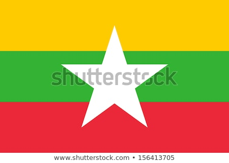 Myanmar bayrak beyaz imzalamak seyahat star Stok fotoğraf © butenkow