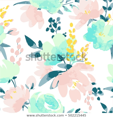 red and pink roses seamless pattern vector floral background of stock photo © popaukropa