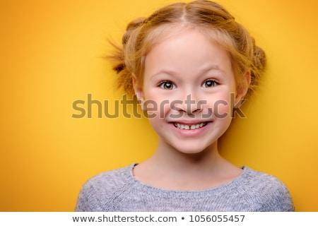 портрет · счастливым · школьница · равномерный - Сток-фото © deandrobot