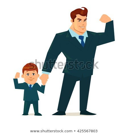 boy in fathers suit stock photo © is2