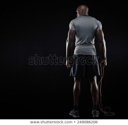 Widok z tyłu zdrowych silne mężczyzna kulturysta stałego Zdjęcia stock © deandrobot