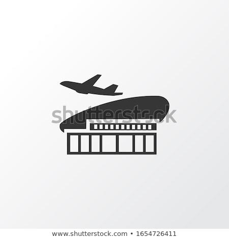 international airport terminal building element stock photo © studioworkstock