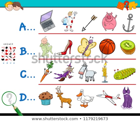 Worksheet design for words starting with B Stock photo © bluering