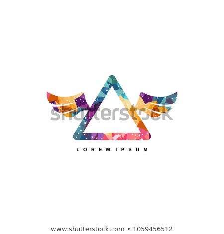 mosaic dimension shape with angel wing Stock photo © vector1st