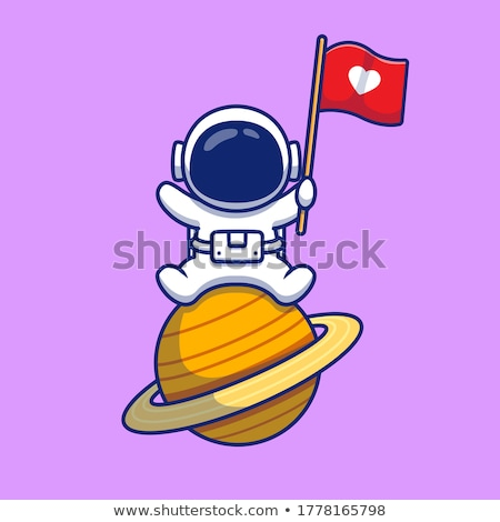 Mascot Planet Neptune Stock photo © lenm