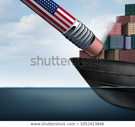 american trade deficit reduction stock photo © lightsource