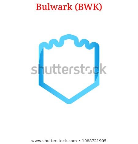 Bulwark Cryptocurrency - Vector Icon. Stock photo © tashatuvango