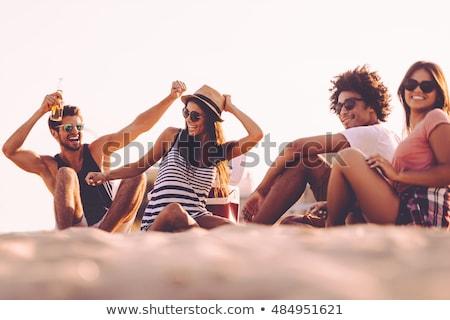 spiaggia · shirt · baby · divertimento · ragazzo - foto d'archivio © is2
