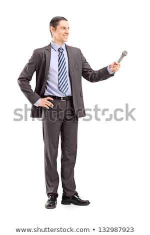?aucasian white reporter interviewing a man. Stock photo © RAStudio