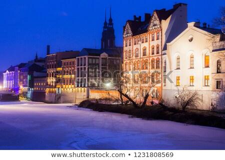 óváros folyó égbolt város utca hó Stock fotó © benkrut