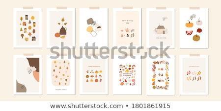 hálaadás · nap · szalag · ünneplés · kártya · ősz - stock fotó © adamson