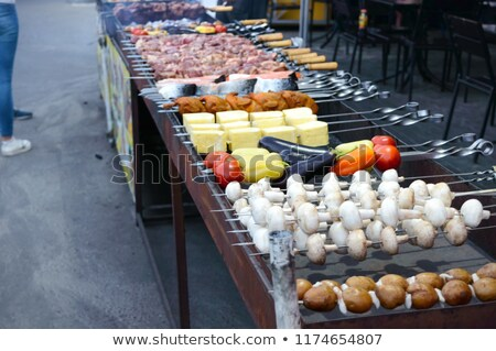 vejetaryen · kebap · restoran · peynir · domates - stok fotoğraf © romvo