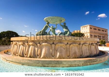 Triton Fountain in Valletta, Malta Stock photo © boggy