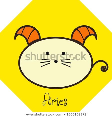 Orange Aries or Ram Cartoon Icon Vector Illustration Stock photo © cidepix