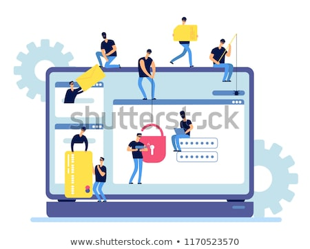 Burglar in secured database and network concept Stock photo © ra2studio