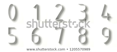 Long shadow digits Numbers 0-9 3D Stock photo © djmilic