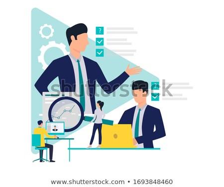 Teamwork Poster Text Sample Vector Illustration Stock photo © robuart