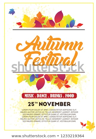 осень вечеринка Flyer иллюстрация падение листьев Сток-фото © articular