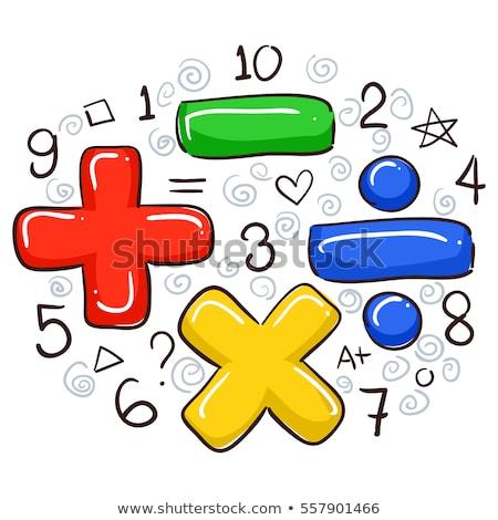 Math number multiplication circle Stock photo © colematt