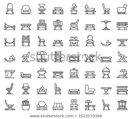 Garden furniture icon set Stock photo © Filata